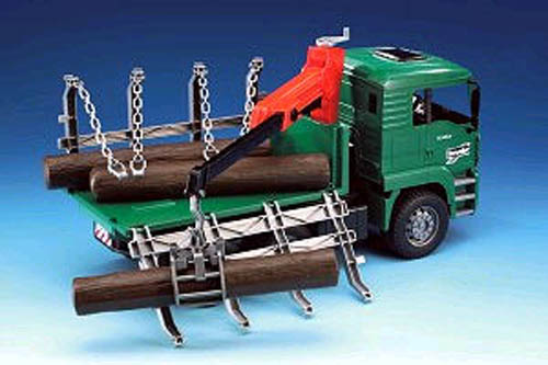Bruder #02769 MAN TGA Timber Truck with Loading Crane! NEW! #2769