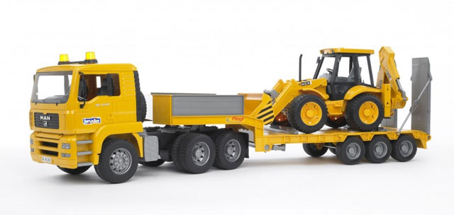 Bruder #02776 MAN TGA Loader truck with JCB Backhoe Loader -New-Factory Sealed! #2776