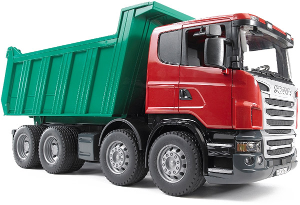 Bruder #03550 SCANIA R-Series Dump Truck -New-Factory Sealed! #3550