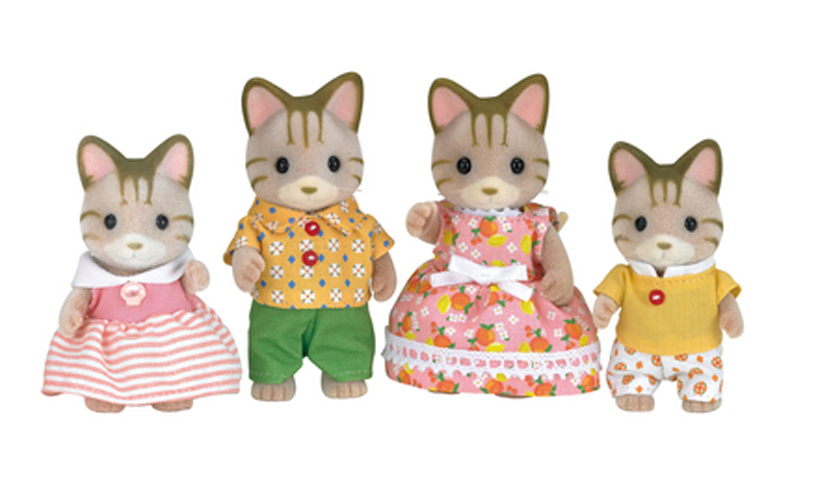 CALICO CRITTERS #CC1406 Sandy Cat Family - New in Box