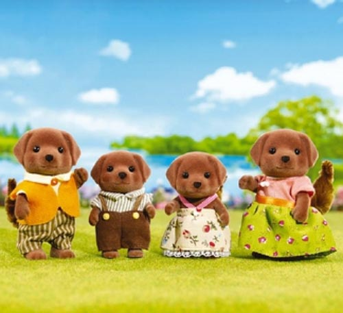 CALICO CRITTERS #CC1454 Chocolate Labrador Family - New Factory Sealed