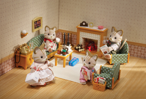 CALICO CRITTERS #CC2263 Deluxe Living Room Set - New Factory Sealed - Sylvanian Families - Pretend Play