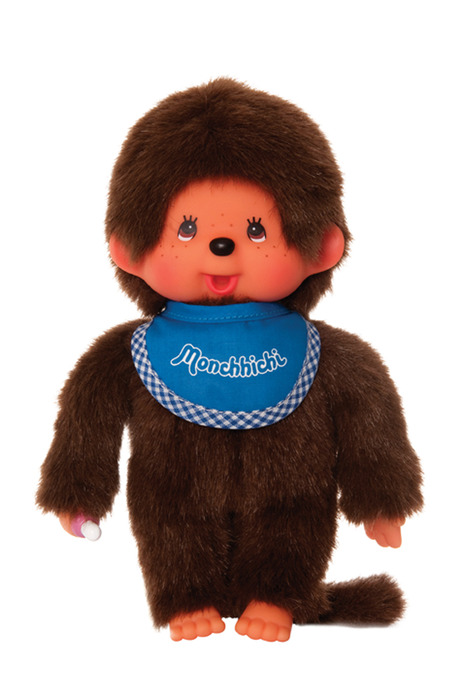 Monchhichi #255040 Boy Doll - Blue Bib - Brand New in Package - By Sekiguchi!