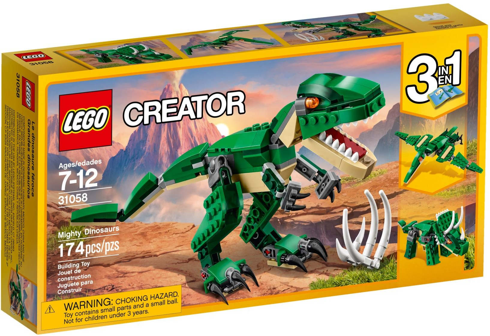 LEGO CREATOR #31058 MIGHTY DINOSAURS-New Factory Sealed