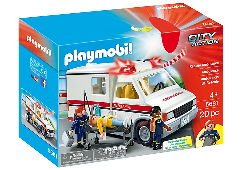 Playmobil #5681 Rescue Ambulance - New Factory Sealed