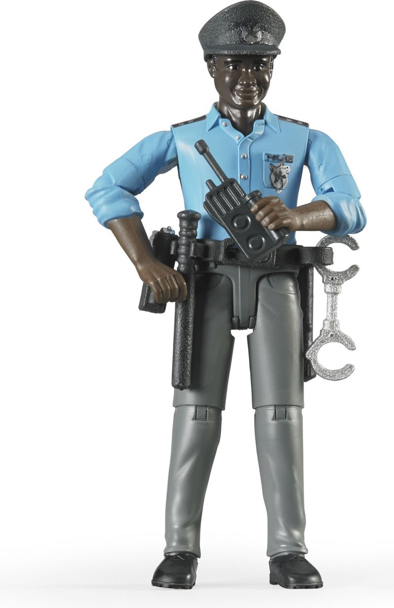 Bruder #60051 bWorld Policeman with Accessories - New factory Sealed