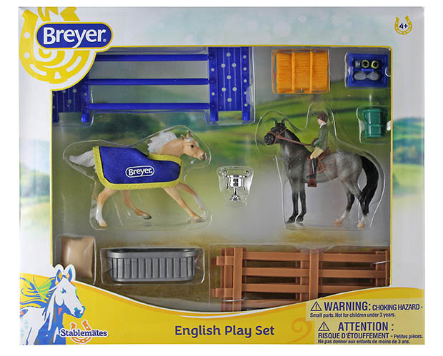 Breyer Stablemates Collection #6027 English Play Set - New Factory Sealed