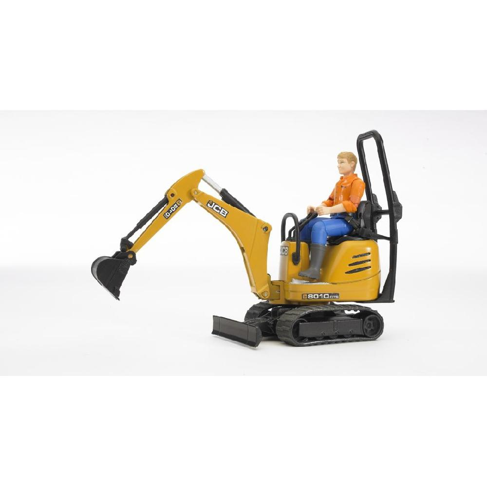 Bruder #62002 JCB Micro Excavator 8010 CTS with Construction Worker! NEW!