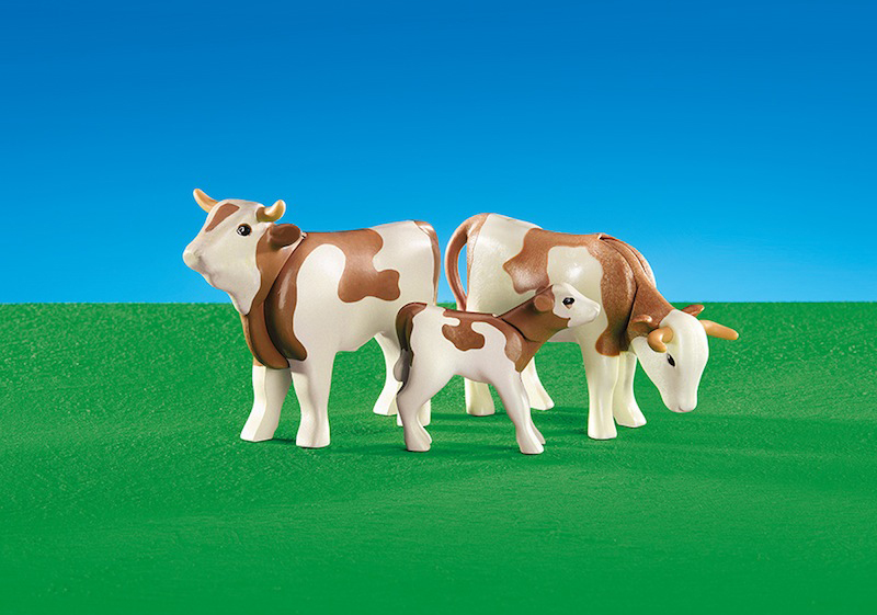 Playmobil Add On #6356 2 Cows with Calf -New-Factory Sealed!