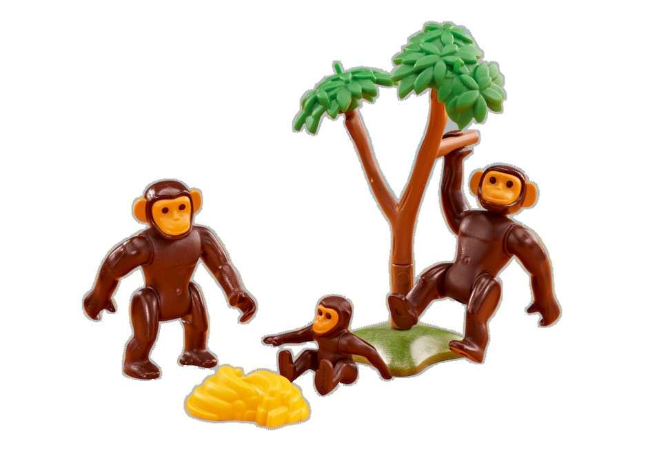 Playmobil Add On #6542 Chimpanzee Family - New Factory Sealed