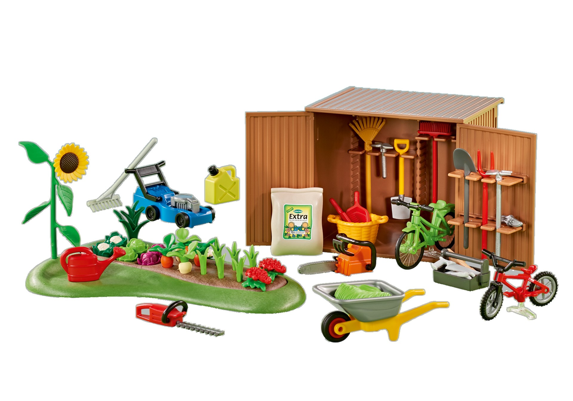 Playmobil Add On #6558 Tool Shed with Garden - New Factory Sealed