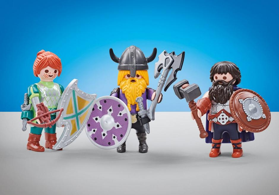 Playmobil Add On #6588 Three Dwarf Fighters - New Factory Sealed