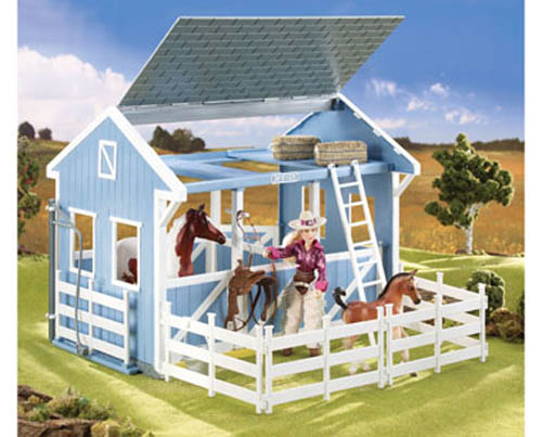 Breyer Classics #699 Country Stable with Wash Stall! (Horse & Cowgirl Sold Separately) -New-Factory Sealed