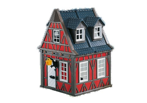 Playmobil Add On #7785 Red Timbered House - New Factory Sealed