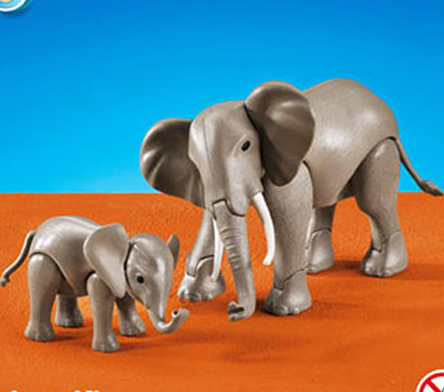 Playmobil Add On #7995 RETIRED 1 Large and 1 Small Elephant -New-Factory Sealed!