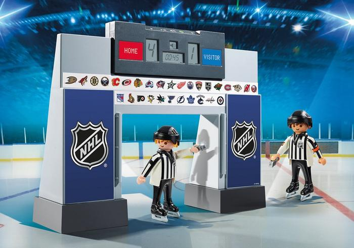 Playmobil #9016 NHL Score Clock with Referees - New factory Sealed