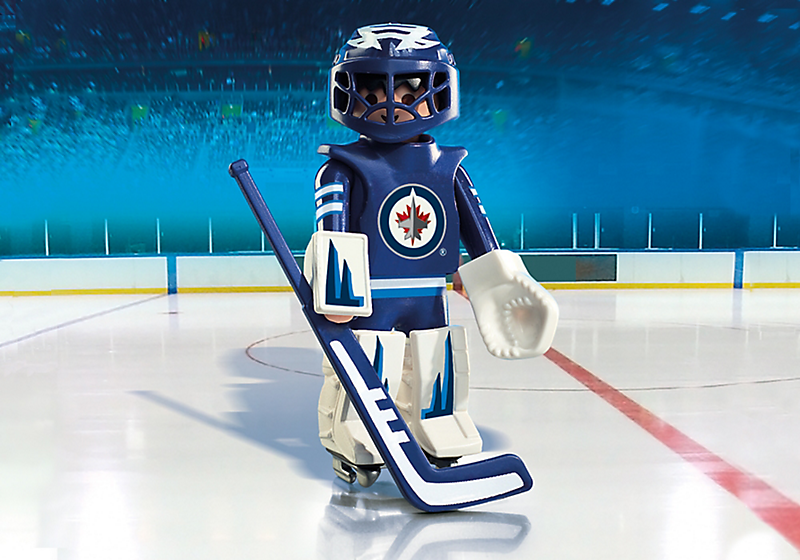 Playmobil #9020 NHL Winnipeg Jets Goalie - New Factory Sealed
