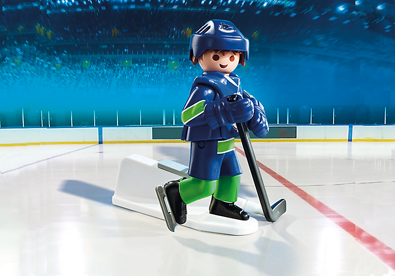 Playmobil #9027 NHL Vancouver Canucks Player - New Factory Sealed
