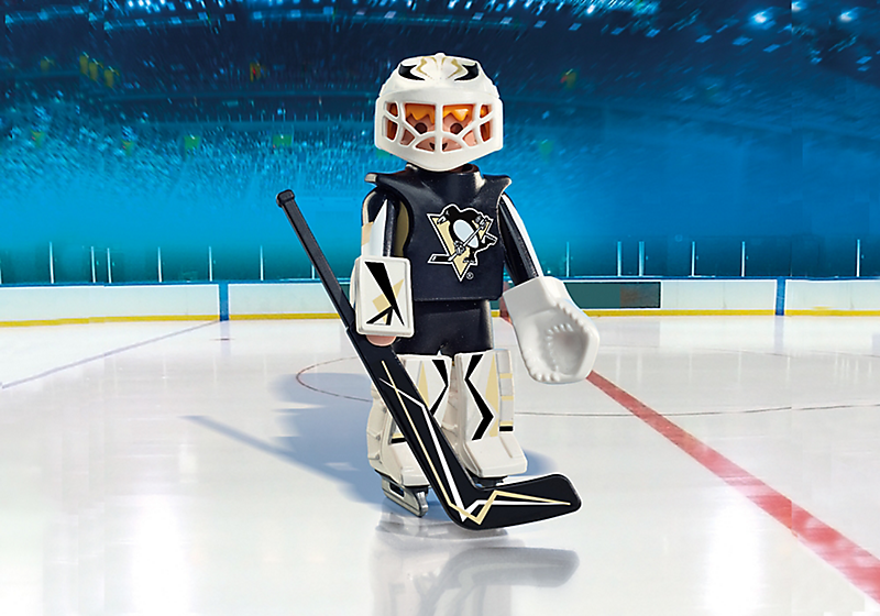 Playmobil #9028 NHL Pittsburgh Penguins Goalie - New Factory Sealed