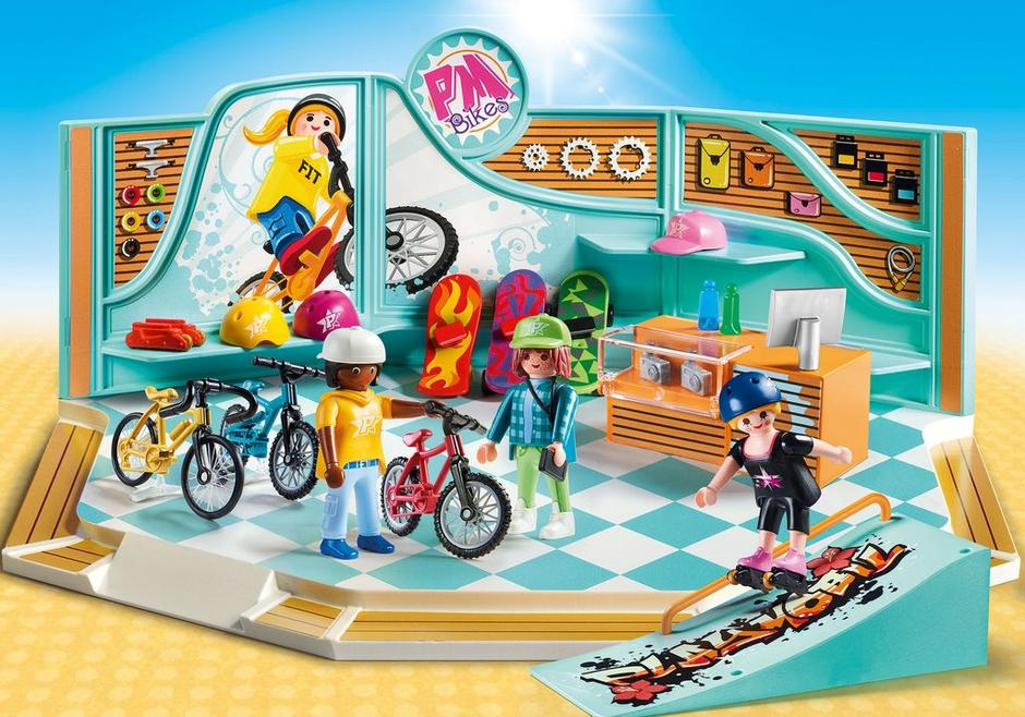 Playmobil #9402 Bike and Skate Shop - New Factory Sealed
