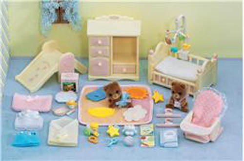 CALICO CRITTERS #CC2269 Baby's Pink Bedroom Set - New Factory Sealed