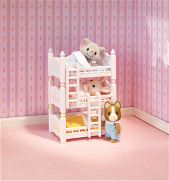 CALICO CRITTERS #CC2624 Triple Baby Bunk Beds - New Factory Sealed - Sylvanian Families - Pretend Play