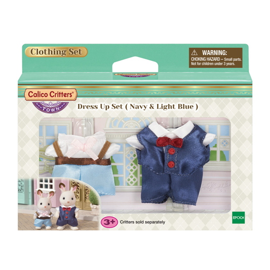 CALICO CRITTERS #CC3029 Dress Up Navy and Light Blue - New Factory Sealed