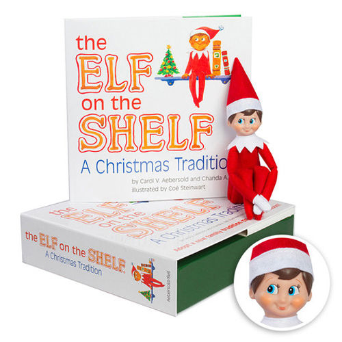 AUTHENTIC ELF ON THE SHELF - A Christmas Tradition Book Kit - Blue Eyed Boy NEW!