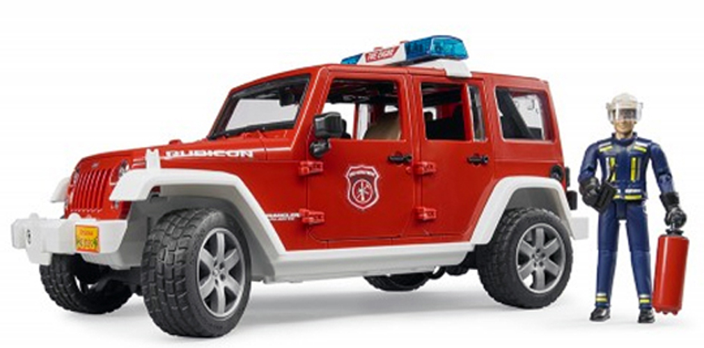 BRUDER #02528 Jeep Wrangler Rubicon Fire Vehicle #2528