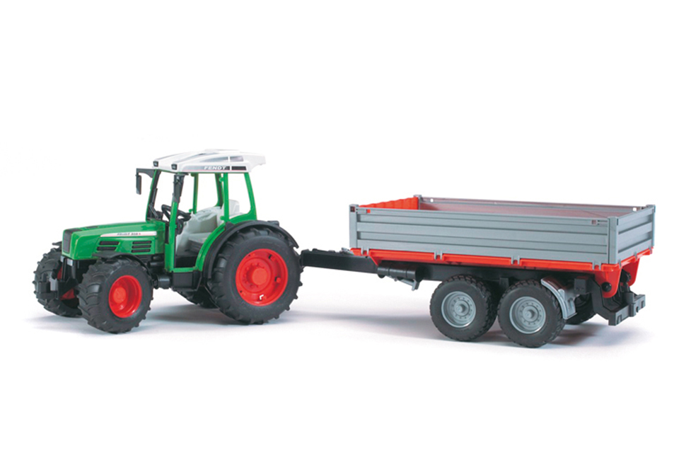 Bruder #02104- Fendt 209 Tractor w/ Tipping Trailer!- New! #2104