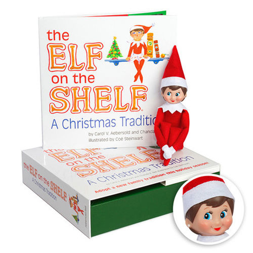 AUTHENTIC ELF ON THE SHELF -A Christmas Tradition Book Kit - Blue Eyed Girl NEW!