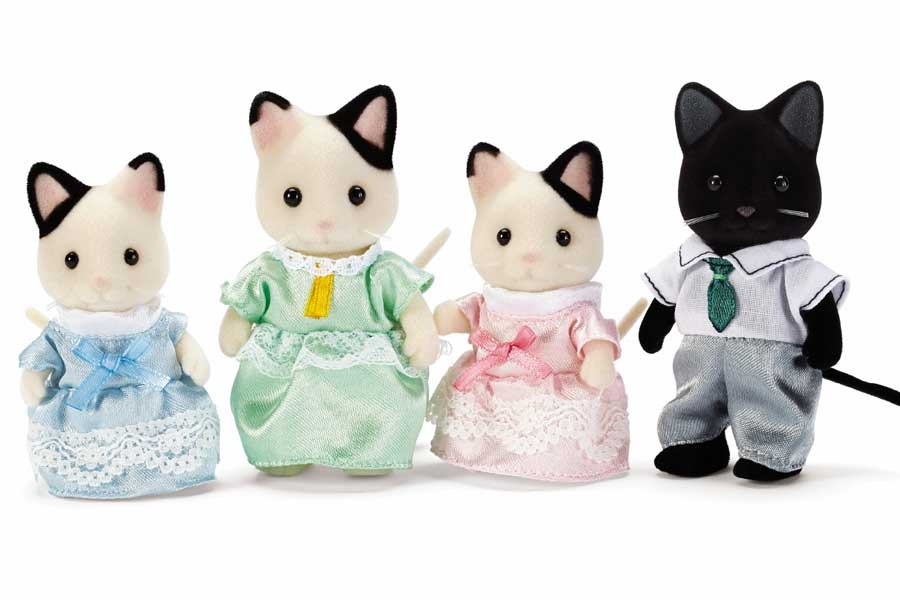 CALICO CRITTERS #CC1472 Tuxedo Cat Family - New Factory Sealed