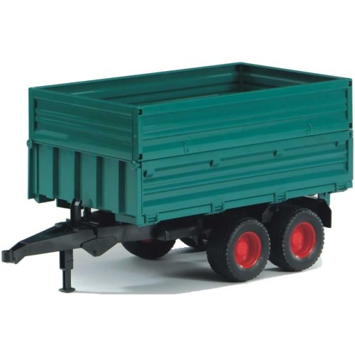 Bruder #02010 Tandem Axle Tipping Trailer with Removable Top - New Factory Sealed #2010