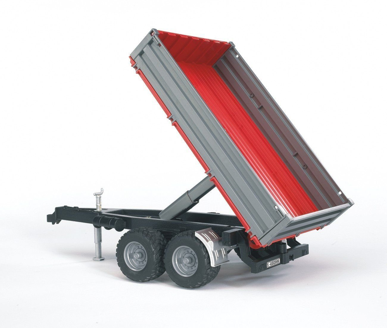 Bruder #02019 Platform Gate Tipping Trailer with Grey Sides - New Factory Sealed #2019 - Click Image to Close