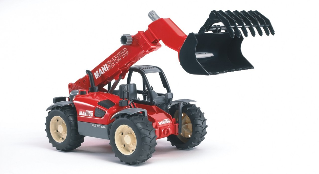 Bruder #02125 Manitou Telescopic Loader MLT 633 -New-Factory Sealed #2125