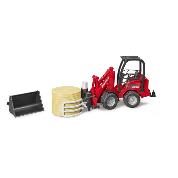Bruder #02192 Schaffer Compact Loader with Bale Gripper and 1 Round Bale - New Factory Sealed