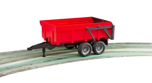 Bruder #02211 Tipping Trailer - Red - New Factory Sealed