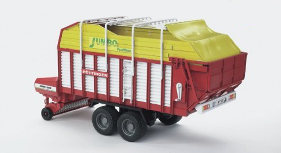 Bruder #02214 Pottinger Jumbo 6600 Profiline Forage Trailer - New Factory Sealed #2214