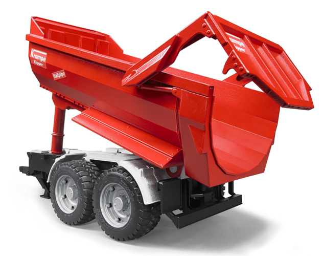 Bruder #02225 Krampe Tandem Halfpipe Tipping Trailer - New - Factory Sealed #2225