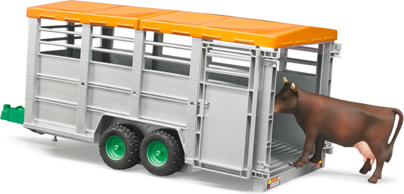 Bruder #02227 Livestock Trailer with Cow - New Factory Sealed #2227