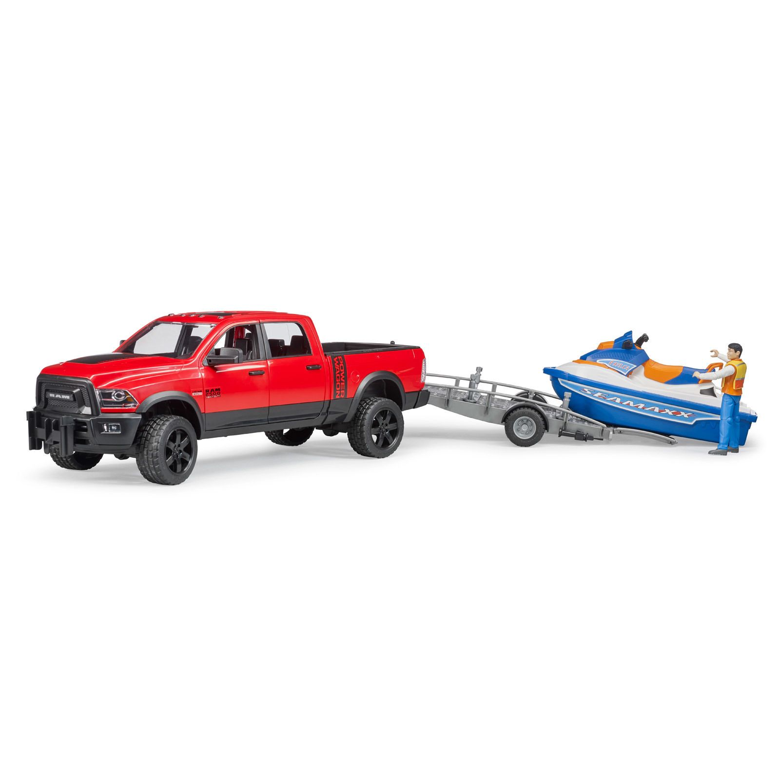 Bruder #02503 RAM 2500 Power Wagon with Trailer, Jet Ski, and Figure - New Factory Sealed #2503