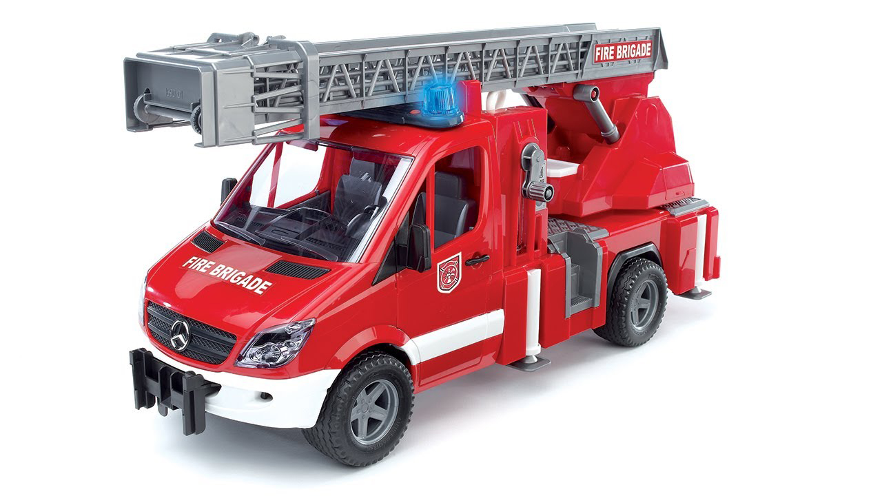 Bruder #02532 MB Sprinter Fire Engine with Ladder Water Pump & Light/Sound Module -New-Factory Sealed! #2532
