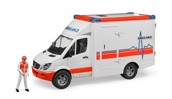 BRUDER #02536 MB Sprinter Ambulance with EMS Crew #2536