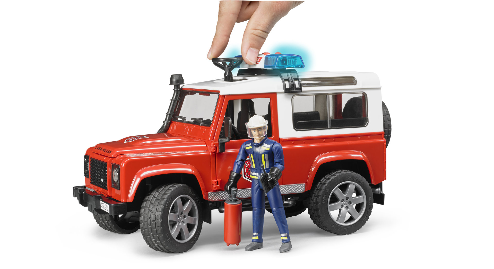 Bruder #02596 Land Rover Fire Department Vehicle with Fireman - New Factory Sealed