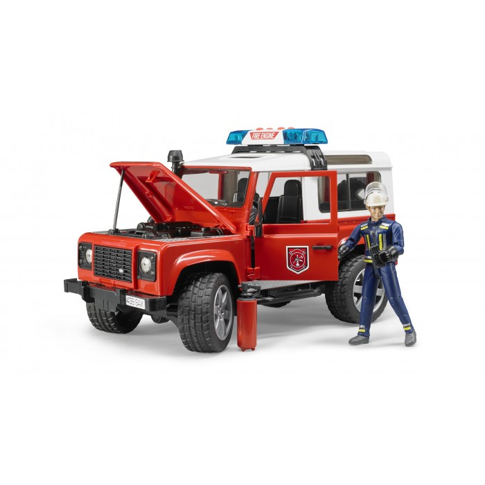 Bruder #02596 Land Rover Fire Department Vehicle with Fireman - New Factory Sealed #2596