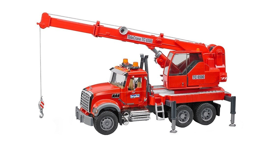 Bruder #02826 Mack Granite Crane with Light and Sound - New Factory Sealed #2826