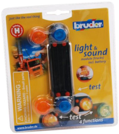 Bruder #02801 Light and Sound Module! - New Factory Sealed #2801 - Click Image to Close
