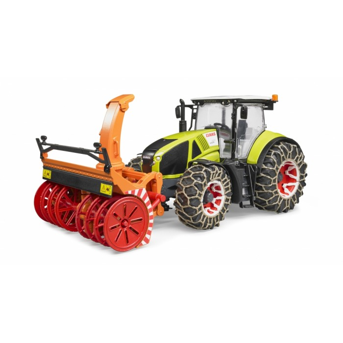 Bruder #03017 CLAAS Axion 950 with Snow Chains and Snow Blower #3017
