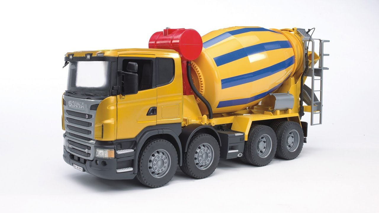 Bruder #03554 SCANIA R-Series Cement Mixer Truck -New-Factory Sealed! #3554