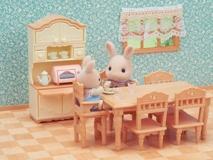 CALICO CRITTERS #CC1809 Dining Room Set - New Factory Sealed